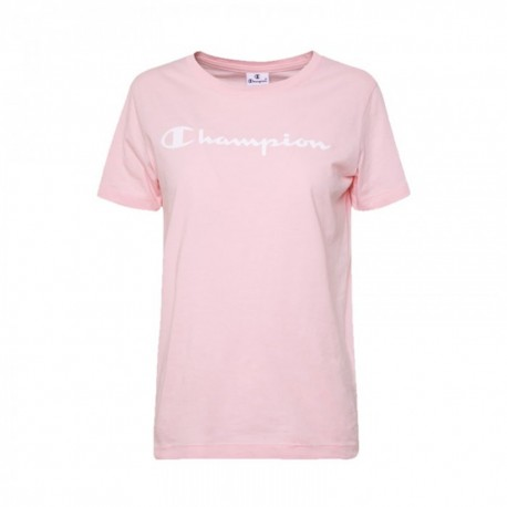 Champion T-Shirt Girocollo Rosa Donna