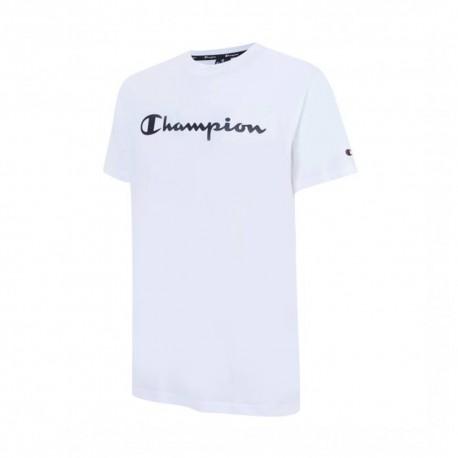 Champion T-Shirt Girocollo Logo Bianco Uomo