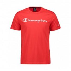 Champion T-Shirt Girocollo Logo Rosso Uomo
