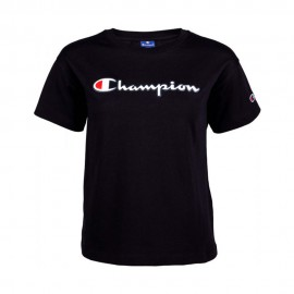 Champion T-Shirt Logo Nero Donna