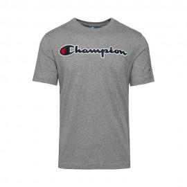 Champion T-Shirt Logo Grigio Uomo