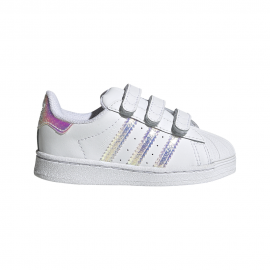 ADIDAS originals sneakers superstar tdv bianco argento baby