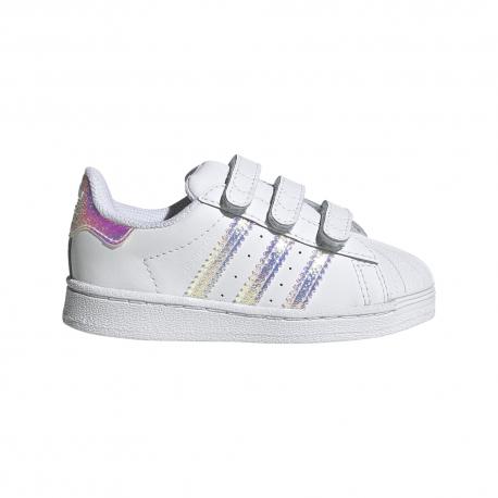 Adidas Originals Sneakers Superstar Tdv Bianco Argento Bambino