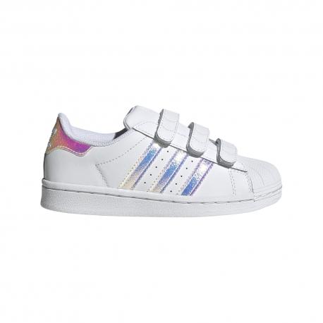 Adidas Originals Sneakers Superstar Psv Bianco Argento Bambino