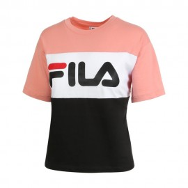 Fila T-Shirt Bicolor Rosa Donna