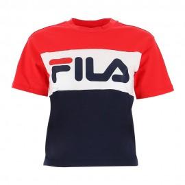 Fila T-Shirt Bicolor Rosso Donna