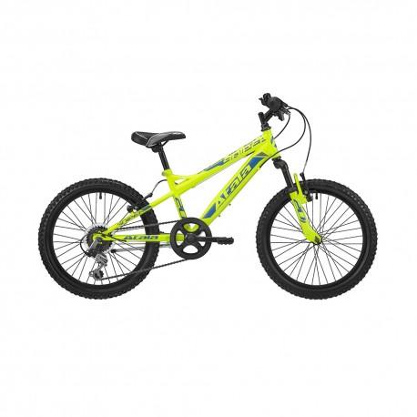 """Atala City Bike Sniper 6v 20"""" Giallo Fluo Blu Opaco Bambino"""
