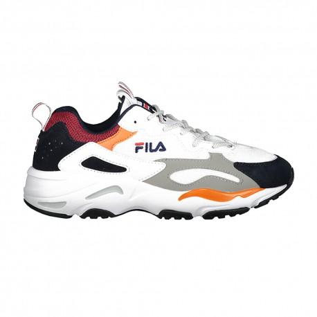 Fila Sneakers Ray Tracer Bianco Blu Uomo