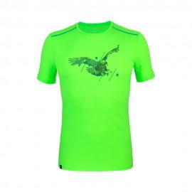 Salewa Maglia Trekking Sporty Graphic Fluo Verde Uomo