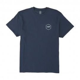 Billabong T-Shirt Mare Logo Esagonale Blu Uomo