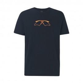 Oakley T-Shirt Mare Logo Occhiali Nero Uomo