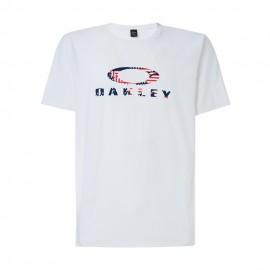 Oakley T-Shirt Mare Logo Usa Bianco Uomo