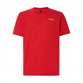Oakley T-Shirt Mare Logo Back Rosso Uomo