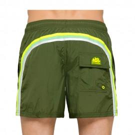 Sundek Costume Boxer Tessuto Ultraleggero Verde Uomo
