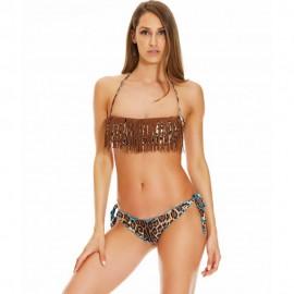 4giveness Bikini Fascia  Frange Moro Donna