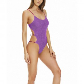 4giveness Costume Intero Lurex Viola Donna
