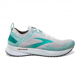 Brooks Scarpe Running Levitate 4 Bianco Azzurro Donna