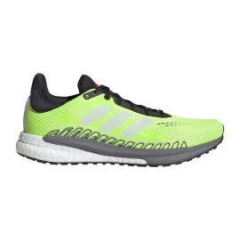 ADIDAS scarpe running solar glide 3 signal verde core bianco uomo