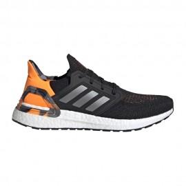 ADIDAS scarpe running ultraboost 20 core nero grigio three uomo
