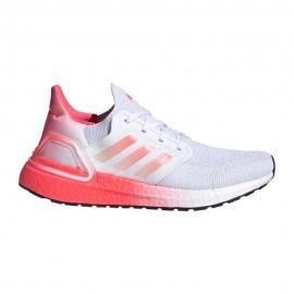 ADIDAS scarpe running ultraboost 20 ftwr bianco signal rosa donna