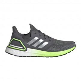 ADIDAS scarpe running ultraboost 20 grigio five silver met uomo