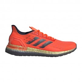 ADIDAS scarpe running ultraboost pb solar red collegiate navy uomo