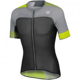Sportful Maglia Ciclismo Bodyfit Pro Grigio Rosso Uomo