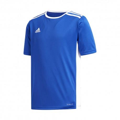 Adidas Maglia Calcio Entrada 18 Team Blu Royal Bianco Bambino