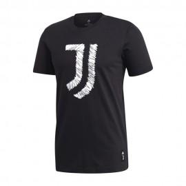 Adidas Maglia Calcio Juve Graphic Dna Nero Bianco Uomo