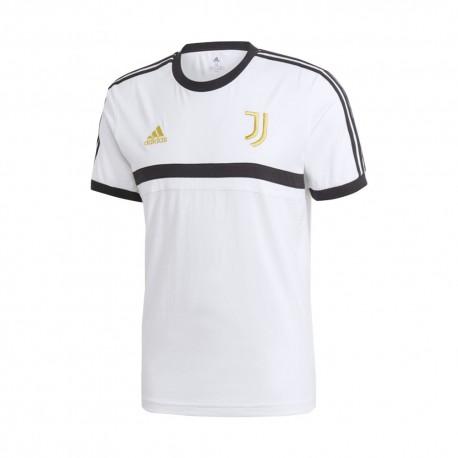 ADIDAS maglia calcio juve 3 stripes bianco nero uomo ADIDAS maglia calcio juve 3 stripes bianco...