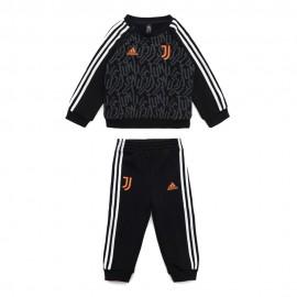 ADIDAS tuta calcio juve 3 stripes nero arancio baby