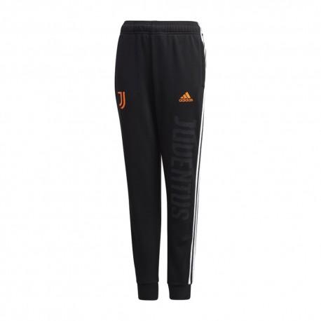 Adidas Pantaloni Allenamento Calcio Juve Nero Bianco Bambino