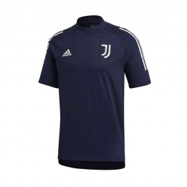 ADIDAS maglia calcio juve cotton 20/21 blu bianco uomo