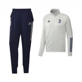 Adidas Tuta Calcio Juve 20/21 Grigio Blu Uomo