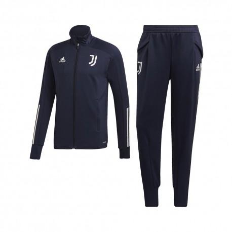 Adidas Tuta Calcio Juve 20/21 Blu Grigio Uomo