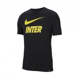 Nike Maglia Calcio Inter Tr Ground Nero Giallo Uomo