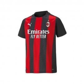 Puma Maglia Calcio Mm AC MIlan Home 20 21 Rosso Nero Bambino