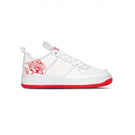Nike Sneakers Air Force 1 Gs Bianco Rosso Bambino