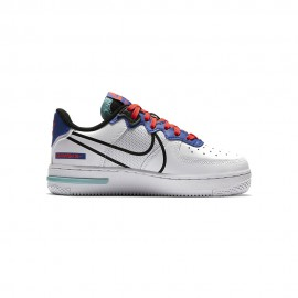Nike Sneakers Air Force 1 React Gs Bianco Platino Bambino