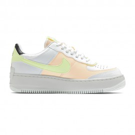 Nike Sneakers Air Force Shadow Bianco Crimson Donna
