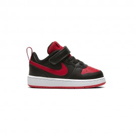 Nike Sneakers Court Borough Low 2 Td Nero Rosso Bambino