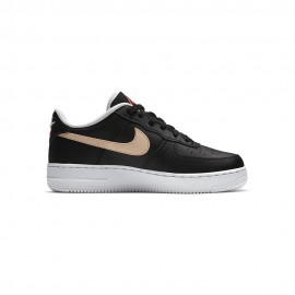 Nike Sneakers Force 1 Lv8 Gs Nero Flash Crimson Bambino