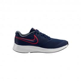 Nike Sneakers Star Runner 2 Gs Blu Rosso Bambino