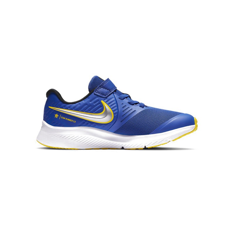 Nike Sneakers Star Runner 2 Psv Blu Argento Bambino