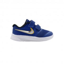 Nike Sneakers Star Runner 2 Td Blu Argento Bambino
