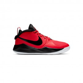 Nike Sneakers Team Hustle D9 Gs Rosso Bianco Bambino