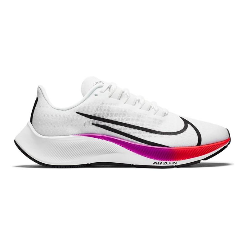 Nike Scarpe Running Air Zoom Pegasus 37 Bianco Flash Crimson Donna