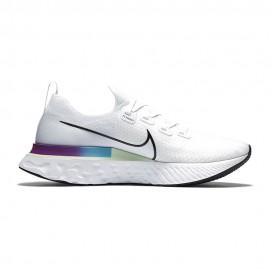 Nike Scarpe Running Epic React Infinity Bianco Nero-Vapor Verde-Orac Uomo