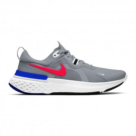 Nike Scarpe Running Miler React Pure Platinum Bright Crimson Uomo