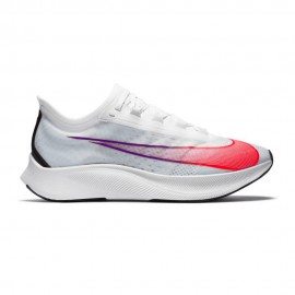 Nike Scarpe Running Zoom Fly 3 Bianco Flash Crimson Uomo